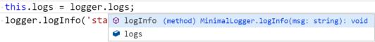 MinimalLogger restricted API