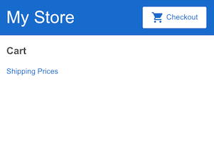 Cart with link to shipping prices